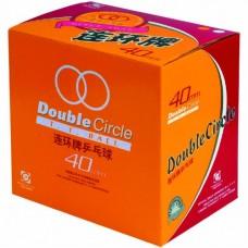 Míčky DHS celuloid 40mm bíl. DOUBLE CIRCLE 144 ks.